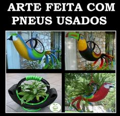 Arte usando pneus usados (recycling tires into art stuff)