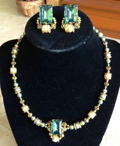 Swarovski element crystals and pearls