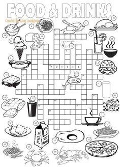 Resultado de imagen para crucigramas en ingles con alimentos