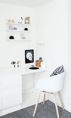 Simple workspace II love this home office from my scandinavian home Home Office Design, Home Office Decor, House Design, Office Designs, Office Ideas, Office Inspo, Workspace Inspiration, Room Inspiration, Interior Inspiration