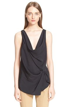 LANVIN Drape Front Sleeveless Blouse. #lanvin #cloth #blouse #top