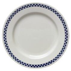 """Homer Laughlin Dinnerware, America's Original Diner Checked Dinner Plate Cobalt Checker by Fiesta. $31.99. Dinner Plate, 10 5/8"""""""