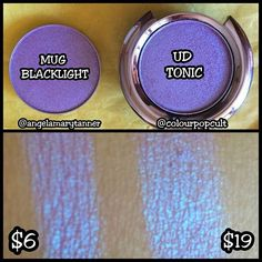 NEW MAKEUP GEEK DUOCHROMES!! Mug BLACKLIGHT vs Urban decay TONIC