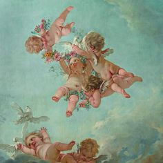 François Boucher (1703-1770) The Four Seasons: Spring National Museum of Fontainebleau Palace of Fontainebleau - Great apartments ceiling Council Chamber (detail)