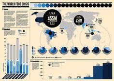 World Food Crisis Infographic by Daytona Splendor, via Flickr