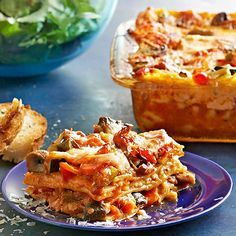 Roasted Vegetable Lasagna ~ Keep everyone happy with a low-calorie take on a classic casserole. Brimming with zucchini, carrots, mushrooms, and sweet peppers, this freezer lasagna guarantees a hearty bite of veggies in every forkful. Roasted Vegetable Lasagna, Vegetable Lasagna Recipes, Roasted Vegetables, Vegetarian Recipes, Vegetable Lasagne, Veggies, Colorful Vegetables, Fresh Vegetables, Casserole Recipes