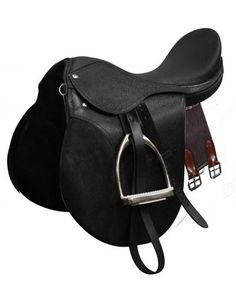 "All-Purpose English Style Saddle. Comes complete with Stainless Steel irons, leathers and girth. Features a smooth leather seat and a suede leather knee roll. Model: 1000 Seat: 14"", 15"", 16"", 17"", 18"""