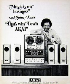 Quincy Jones for Akai stereos