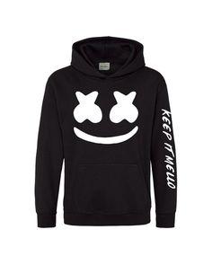 Marshmello Hoodie Top DJ Mellow Dance House Music DotCom EDM Hooded Hoody Jumper