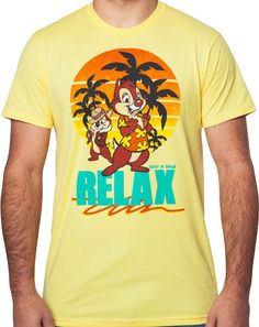 Chip n Dale Relax T-Shirt: Chip n Dale Rescue Rangers Mens T-Shirt