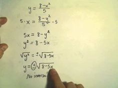 ▶ Finding the Inverse of a Function or Showing One Does not Exist, Ex 2 - YouTube