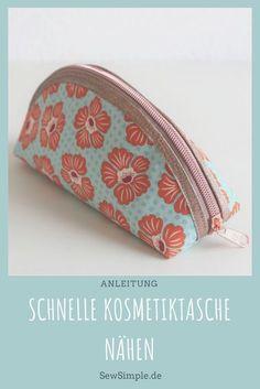 Eine schnelle Kosmetiktasche nähen – das ist supereinfach und geht blitzschnell! Dass die Reißverschlusstasche nebenbei auch noch hinreißend aussehen soll, versteht sich von selbst! Du benötigst nicht mal ein Schnittmuster. :)