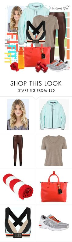 """BE FIT"" by jckallan ❤ liked on Polyvore featuring J.Crew, Koral, T By Alexander Wang, Reed Krakoff, P.E Nation, Asics and sweatsesh"