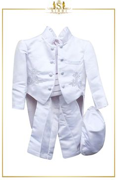 Baby Boys 6 Piece White Christening Suit Baptism Outfit 0 to 24 Months. Shop now at SIRRI kids #suits for boys for #wedding #communion online...Elegant fashion for children and men. #fashion #shopping