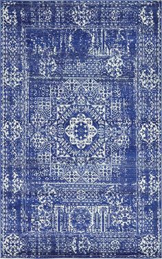 Royal Blue 5' x 8' Heritage Rug | Area Rugs | eSaleRugs