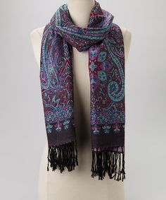 Take a look at this Purple Floral Scarf by Rapti on #zulily today!