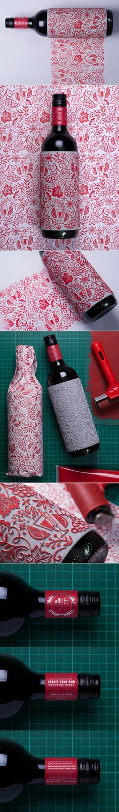This Unique and Festive Wine Label Also Serves as a Decorative Stamp — The Dieline | Packaging & Branding Design & Innovation News