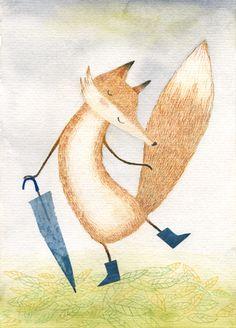 Autumn fox; por Diana Toledano