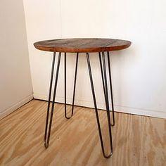 round table. hair pin legs
