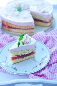 torcik rabarbarowy Vanilla Cake, Food, Essen, Meals, Yemek, Eten