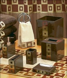 Bathroom Sets Provide Matching Towels And Other Items All In One Set