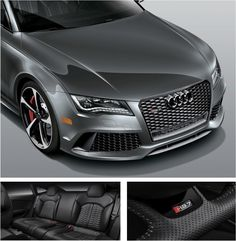 The sporty exterior of the #Audi #RS7 is in conjunction with its elegant interiors. #Audi #RS7 #elegance #Grey