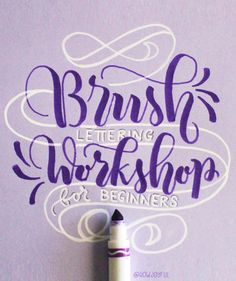 Brush lettering workshop by Joy Kelley @howjoyful