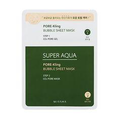 Missha Super Aqua Pore-Kling Bubble Sheet Mask