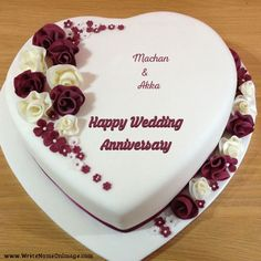 Flower Anniversary cake with his her name
