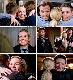 11x07 Plush [gifset] - So many great, much needed, hugs! - Donna Hanscum, Sam and Dean Winchester; Supernatural