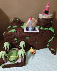 Thunderbirds Tracey Island cake...pic only
