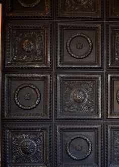 La Scala – Faux Tin Ceiling Tile – 24 in x 24 in – - Decoration Stippled Ceiling, Faux Tin, Drop Ceiling Panels, Ceiling Decor, Faux Tin Ceiling Tiles, Ceiling, Ceiling Design, Wall Tiles, Decorative Ceiling Panels