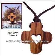 Collar con una cruz de madera de olivo-en Artesanía Religiosa de Regalos y Artesanía en m.spanish.alibaba.com.
