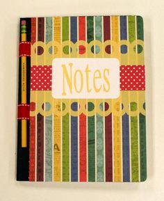 Oh My Crafts Blog: DIY School Notebook