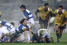 Agustin Pichot contre l'Australie à Canberra en 2000 Pumas, Wrestling, Baseball Cards, Sports, Vintage, Rugby Men, Argentina, Australia, Lucha Libre