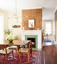 A Denver Square Home With Queen Anne Details #interiordecor #thedpages #lambertandfils #westelm #denver