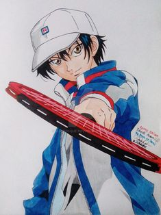 Ryoma Echizen - The Prince of Tennis by mjcbosque on DeviantArt Hot Anime Boy, Anime Love, Anime Guys, Manga Anime, Prince Of Tennis Anime, Anime Outfits, Manga Girl, Live Action, Animation