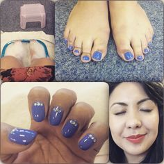 Cambridge Day 3: Hand/Foot model. Luxury pedicure, luxury manicure, gel overlays with rhinestones. Simply beautiful thank you @vtranter I felt very special and super relaxed