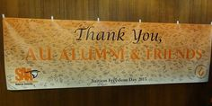 The Anderson University Student Alumni Association sponsored the 5th annual Tuition Freedom Day. Students sign a banner saying thank you in celebration of the support AU receives from alumni and friends of the university. http://www.anderson.edu