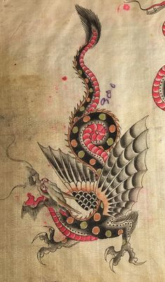 Dragon and Fairy Tattoos Fairy Tattoo, Art Tattoo, Traditional Tattoo Art, Cat Tattoo Designs, Vintage Tattoo Design, Dragon Tattoo, Dragon, Japanese Tattoo, Tattoos Gallery