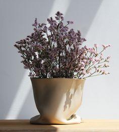 Vase / Bag #ceramic #gres #stoneware #vase #bag #handmade #flowers #plant #nature #design #mariacastelbrancoceramic #forsale