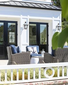 Like the doors, could do just one on either side of built ins out to screen porch