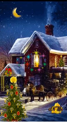 Merry Christmas Gif, Christmas Scenes, Christmas Gnome, Vintage Christmas Cards, Christmas Images, Christmas Lights, Christmas Holidays, Christmas Crafts, Bright Paintings