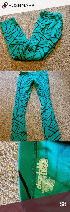 Charlotte Russe leggings size large Good used condition only worn about 3 times. It's a green/blue teal color. Juniors large. Forever 21 Pants Leggings