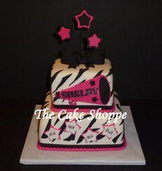 cheerleader themed cake Cheerleading Birthday Cakes, Cheer Birthday Party, Cheer Party, Sweet 16 Birthday, Birthday Ideas, Cheerleader Cakes, 13th Birthday, Fondant Cakes, Cupcake Cakes