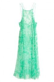 ROMWE Crossed Straps Floral Print Green Maxi Dress