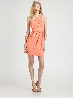 Shoshanna Dresses Bloomingdales Shoshanna asymmetrical peach