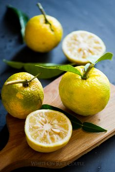 Japanese Yuzu Lemon - Yuzu Citrus Fruit for Japanese Recipes | @whiteonrice
