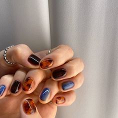 Nagellack Design, Nagellack Trends, Hair And Nails, My Nails, Nail Jewelry, Jewellery, Funky Nails, Fire Nails, Minimalist Nails