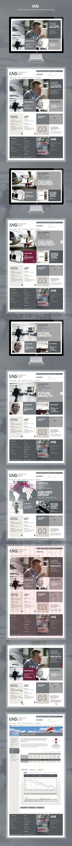 IAG - International Airlines Group   http://www.iairgroup.com   #Webdesign